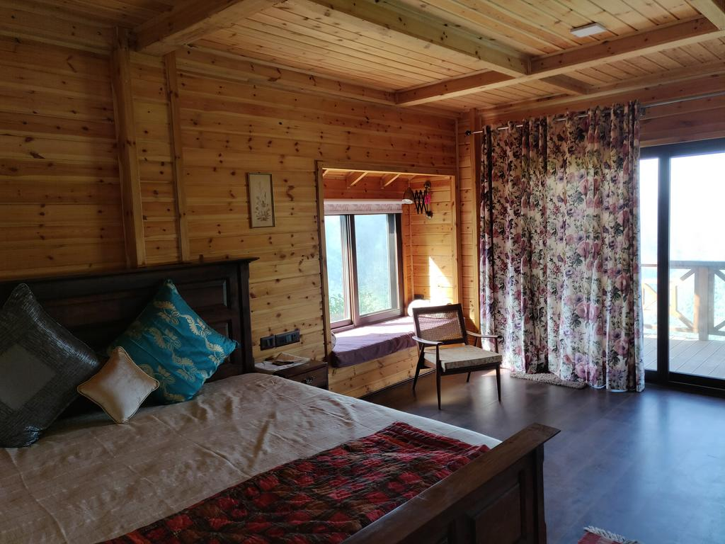 avaas-wooden-chalets room view hilltop homestays in nainital