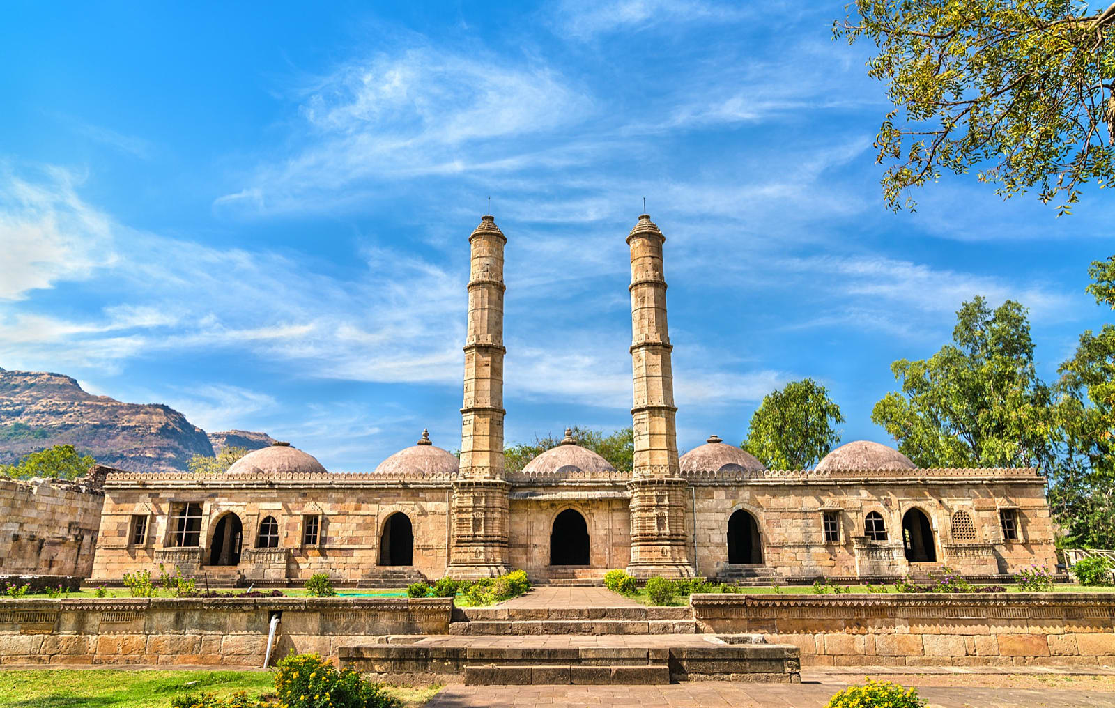 champaner pavagadh archaeological park - world heritage sites in india