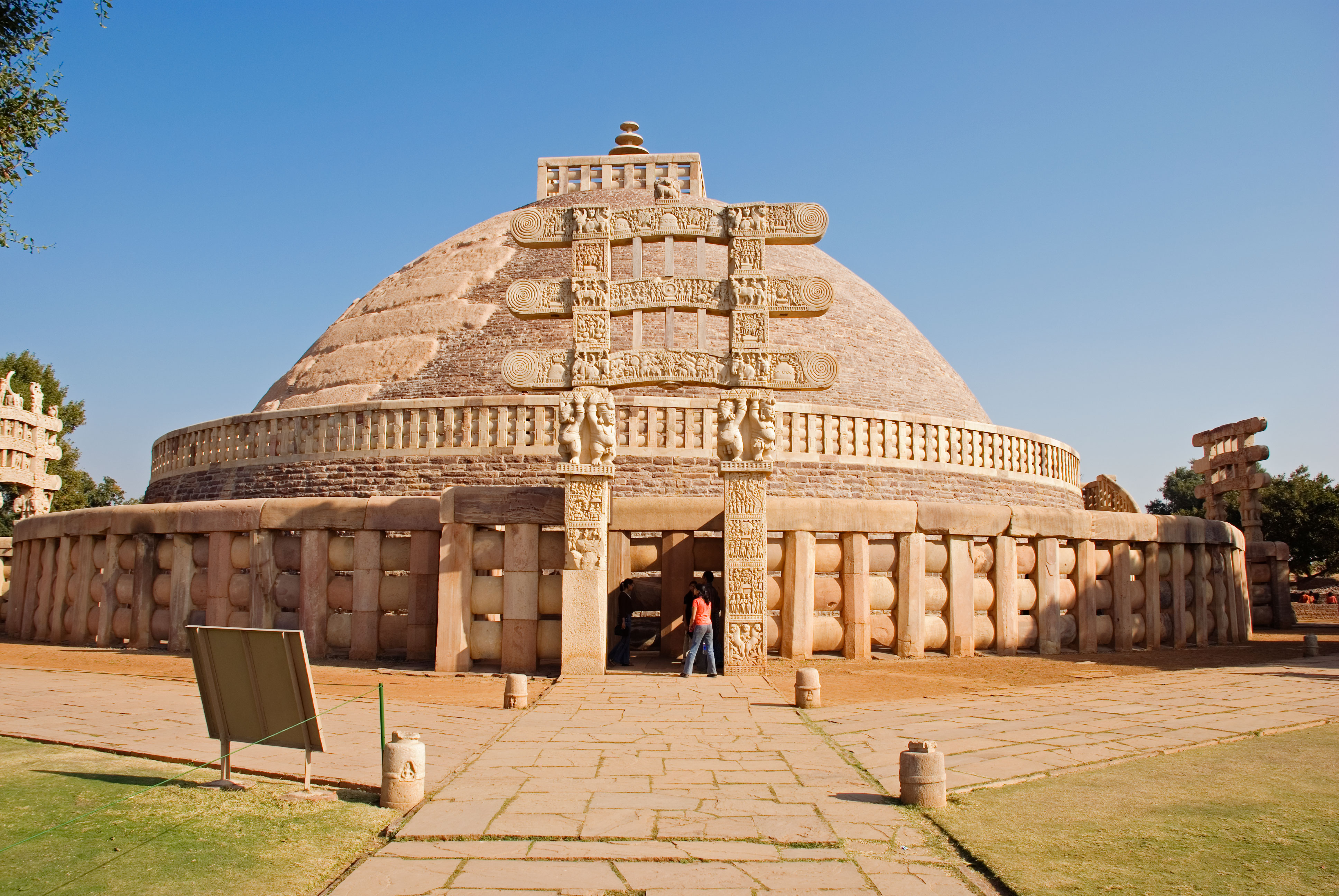 great stupa sanchi - world heritage sites in india