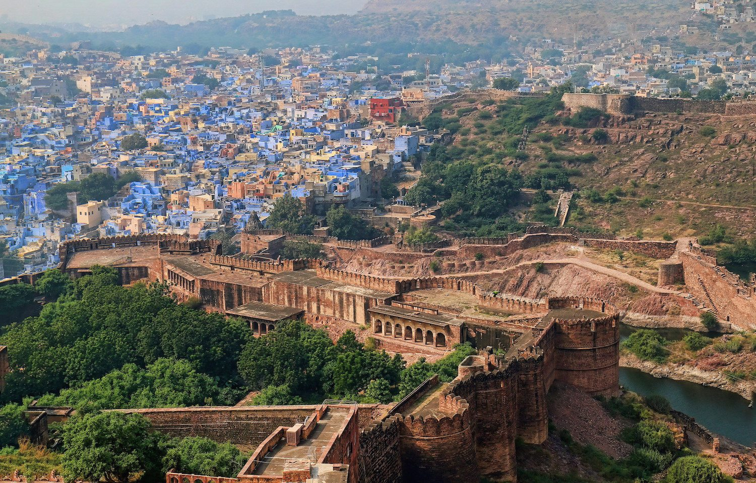 jodhpur city colored blue - desert cities in rajasthan