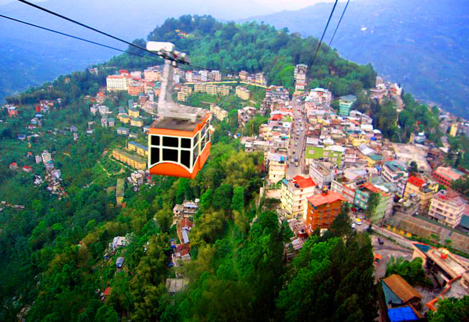 mussoorie rope way - place to visit for summer vacations in india with family