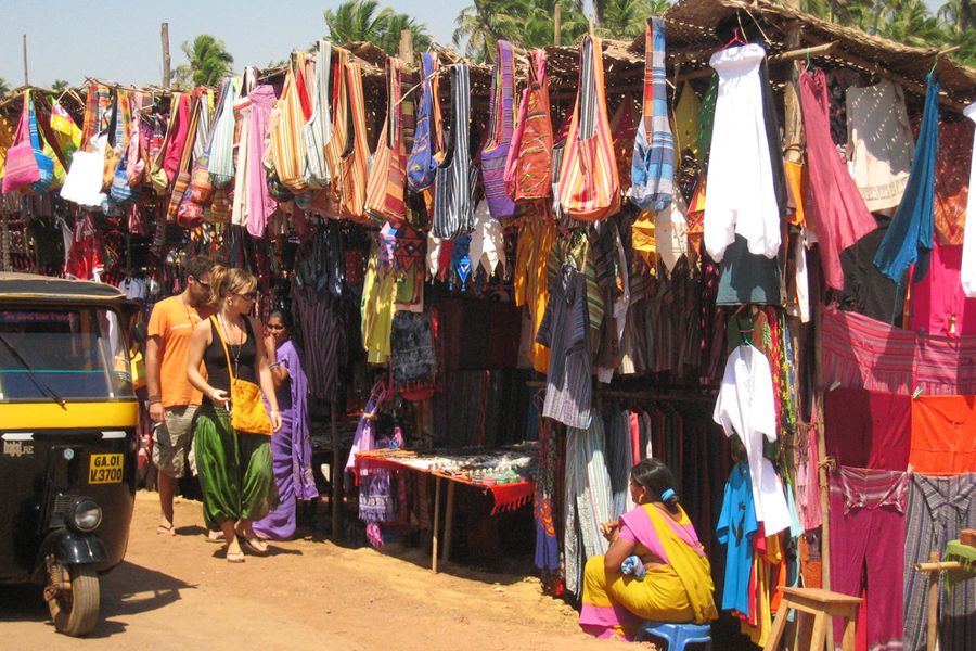 Anjuna Flea Market goa by Travelsite India