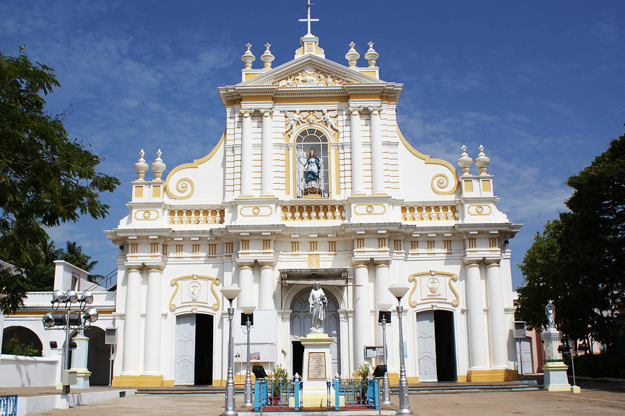 Immaculate Conception Cathedral Puducherry by travelsite india